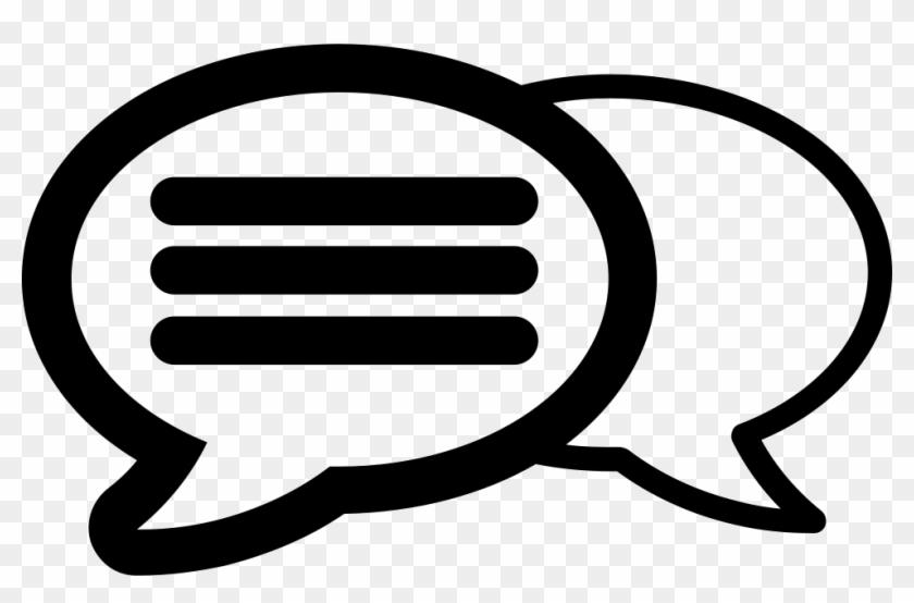 Speech Bubble Comments - Chat Bubble Solid White Icon #246702