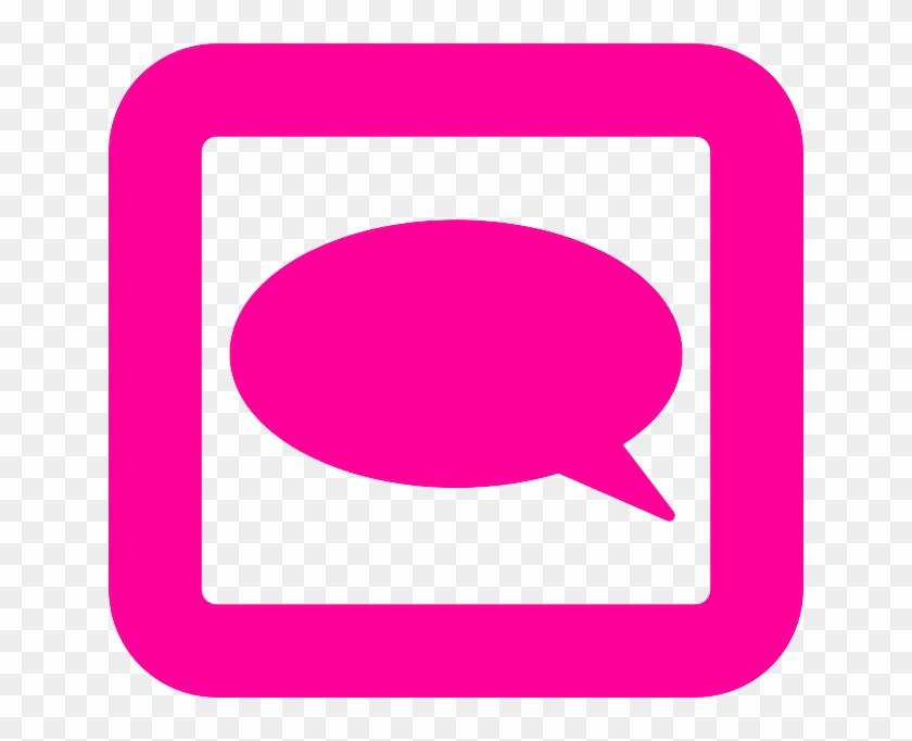 Comment, Speak, Talk, Bubble, Pink - Comment Clipart #246705