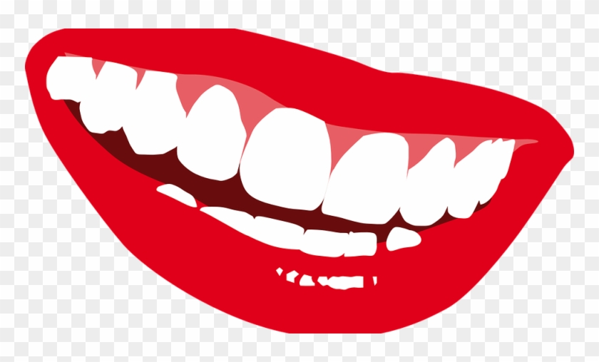 Lips Mouth Smile Teeth Happy L Sticker (rectangle) #246717