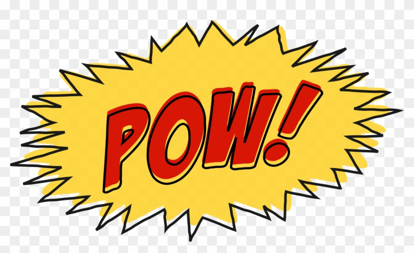 Comic Book Sound Effect No Background - Comic Book Pow Png #246962