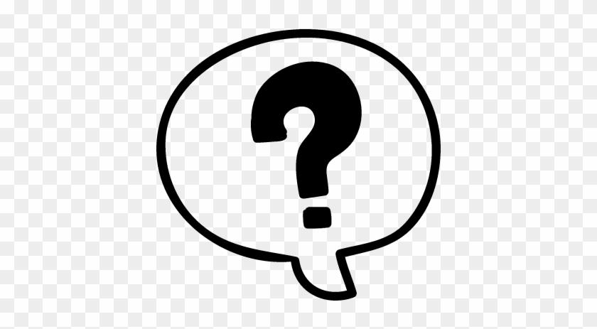 Educational Questions Hand Drawn Speech Bubble Vector - Question Mark Speech Bubble Icon #247139