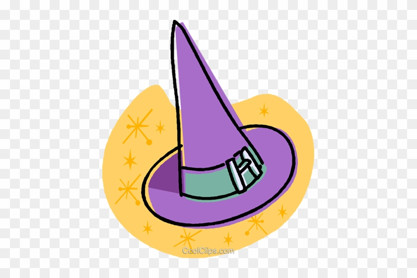 Witches Hat Royalty Free Vector Clip Art Illustration - Hat #1588763