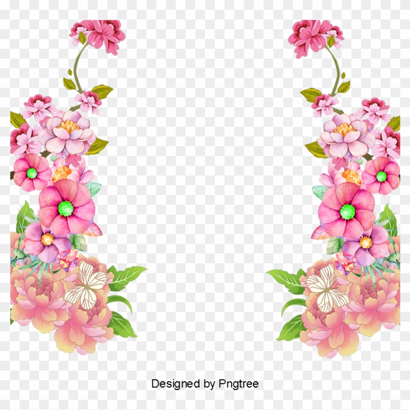 Colorful Frame Border Design Vintage Floral Border - Frame Border Design Of Flowers #1588985