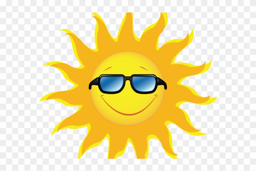 Picture Of Sun Rays Free Download Clip Art - Sun With Glasses Png #1589173