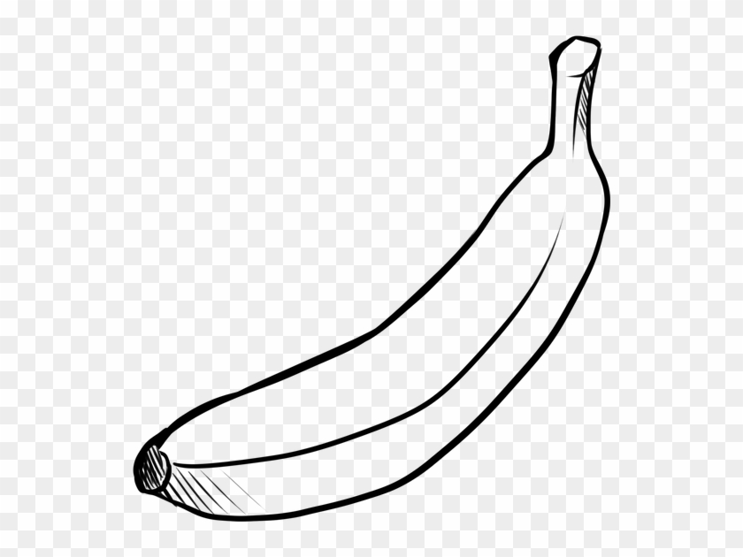 Fruit, Banana, Food, Yellow, Tropical Fruit - Platano En Blanco Y Negro #1589433