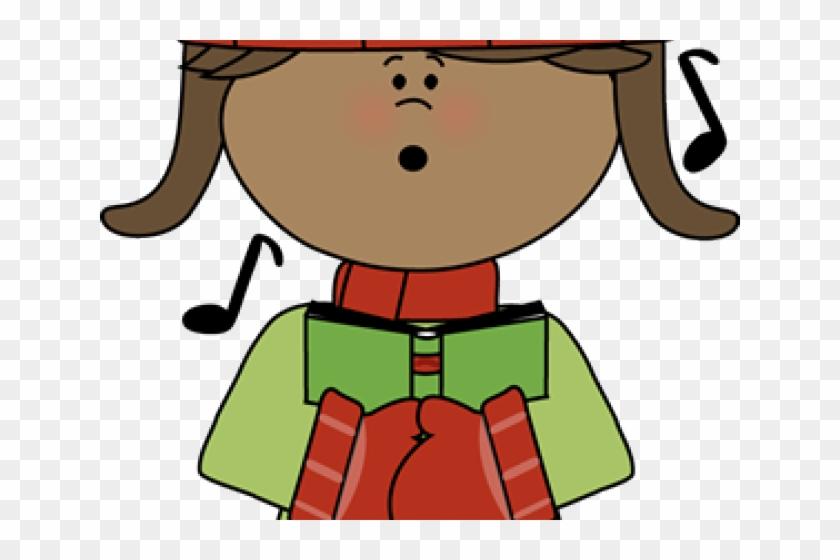 Christmas Clipart Cute - Cute Children Caroling Christmas Clipart #1589722