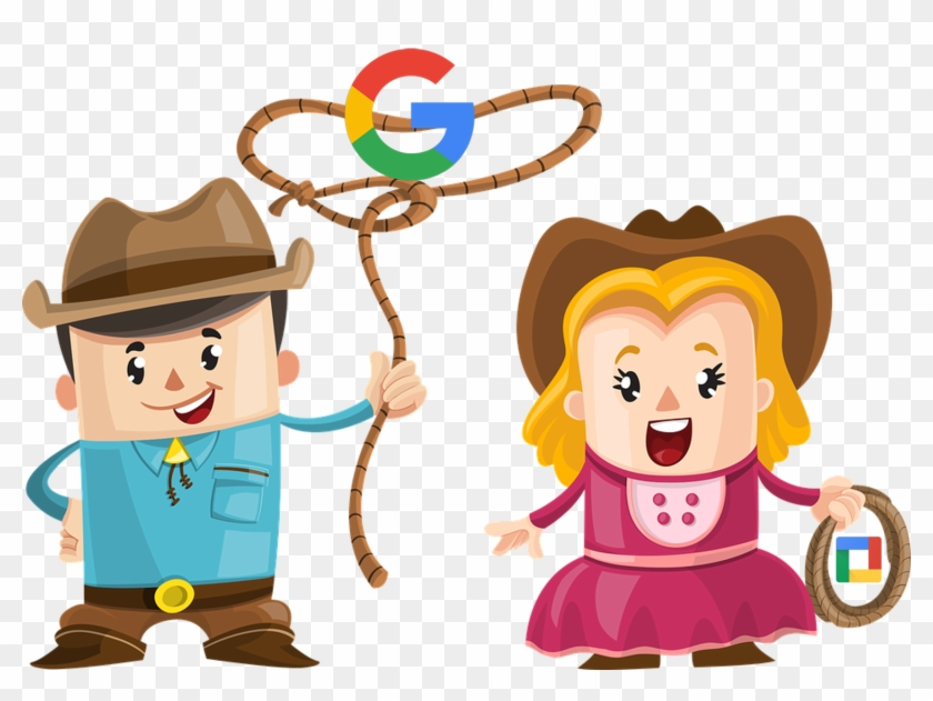 Lasso Clipart Colored Square - Cartoon Cowboy And Girl #1589748