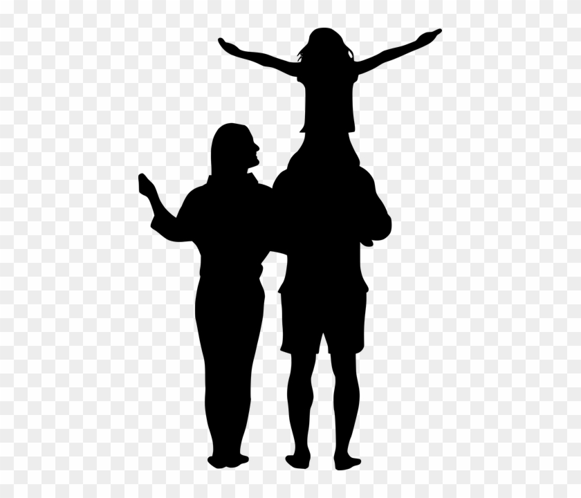Free Image On Pixabay - Father Mother Daughter Silhouette #1589804