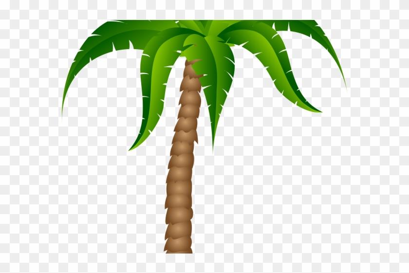 Sunset Clipart Palm Tree - Cartoon Palm Tree Transparent Background #1590354