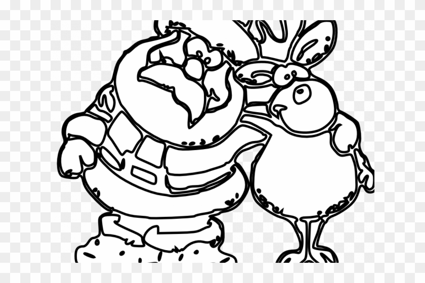Grayscale Santa Coloring Pages With Free Black And - Santa Claus Christmas Clipart Black And White #1590403