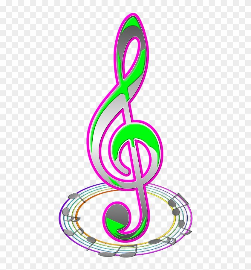 Скрипичный ключ и нотки картинки
