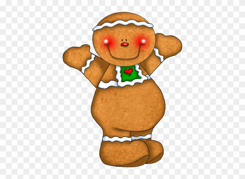 Use This Clipart For A Christmas Candle Craft - Cute Cartoon Gingerbread Man #1591290
