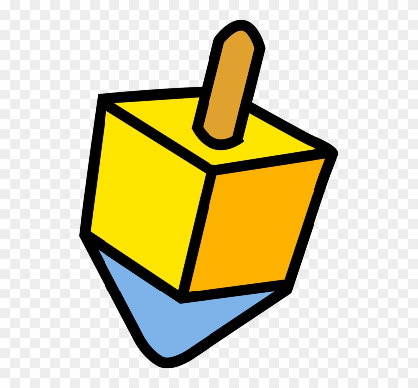 More In Same Style Group - Black And White Clip Art Dreidel #1593159