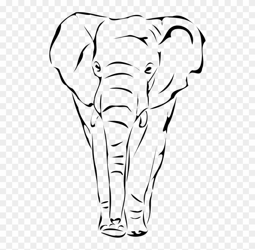 By Artbejo Drawing Scroll Designs - Elephant Face Drawing #1594922