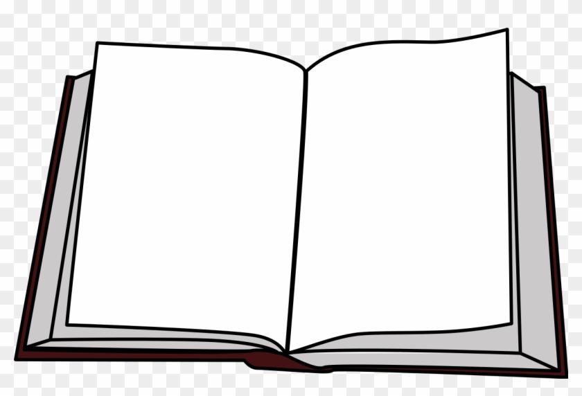 Open Face Book Clip Art - Livre Ouvert #1596903