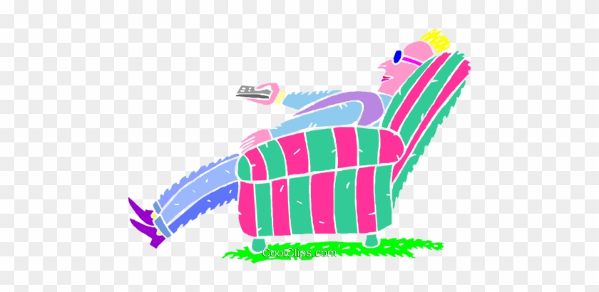 Couch Potato Vektor Clipart Bild - People Relaxing