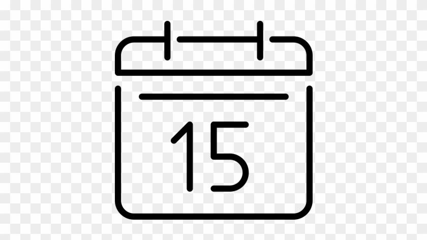 Calendar Days Icon.Appointments 15 Days Calendar Icon Free Transparent Png Clipart