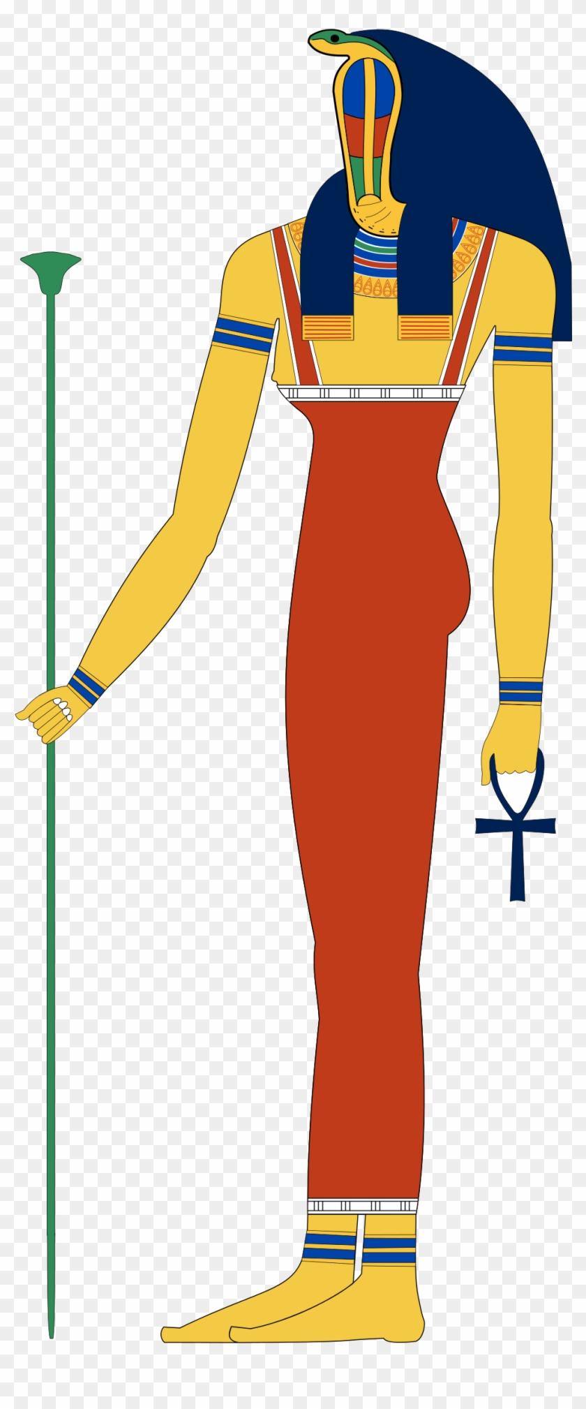 Egypt Clipart Egyptian Servant - Meretseger Egyptian Goddess #1599298