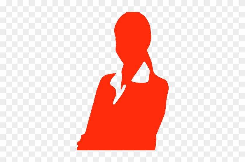 Teacher Big 1 Emily - Professional Woman Business Woman Silhouette #1599954