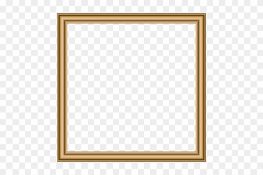 Free Png Download Gold Border Frame Clipart Png Photo - Gold Rectangular Frame #1600047