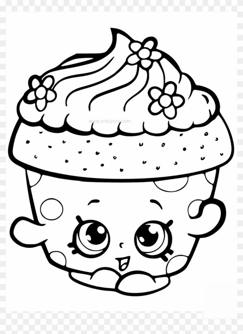 Cupcake Petal Shopkin Coloring Page Cute Cupcake Coloring Pages Free Transparent Png Clipart Images Download