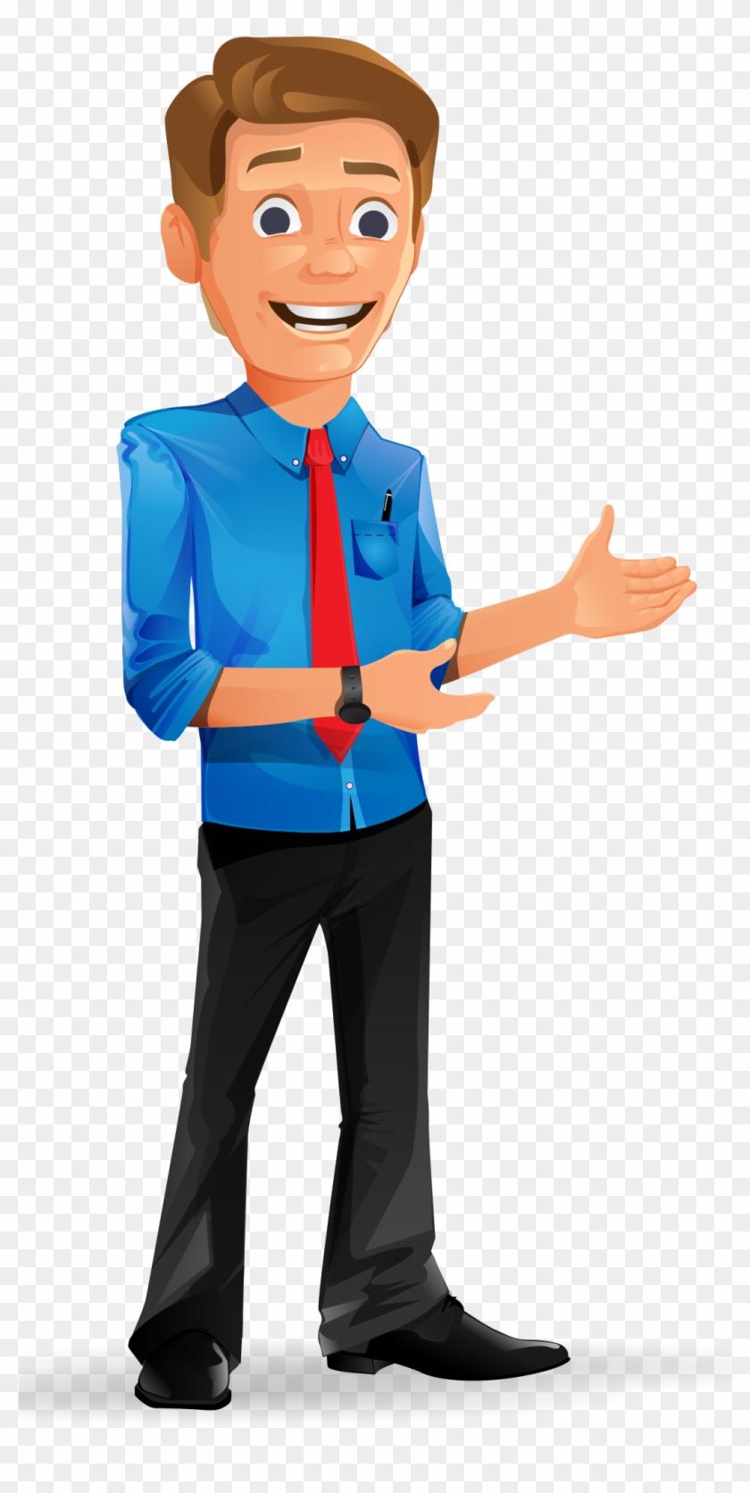 Charming Businessman Vector Character - Businessman Vector