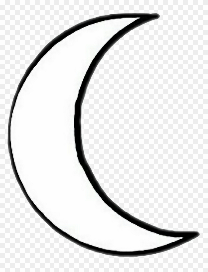 Black White Blackandwhite Arifreetoedit Crescent Moon Easy Drawing Free Transparent Png Clipart Images Download