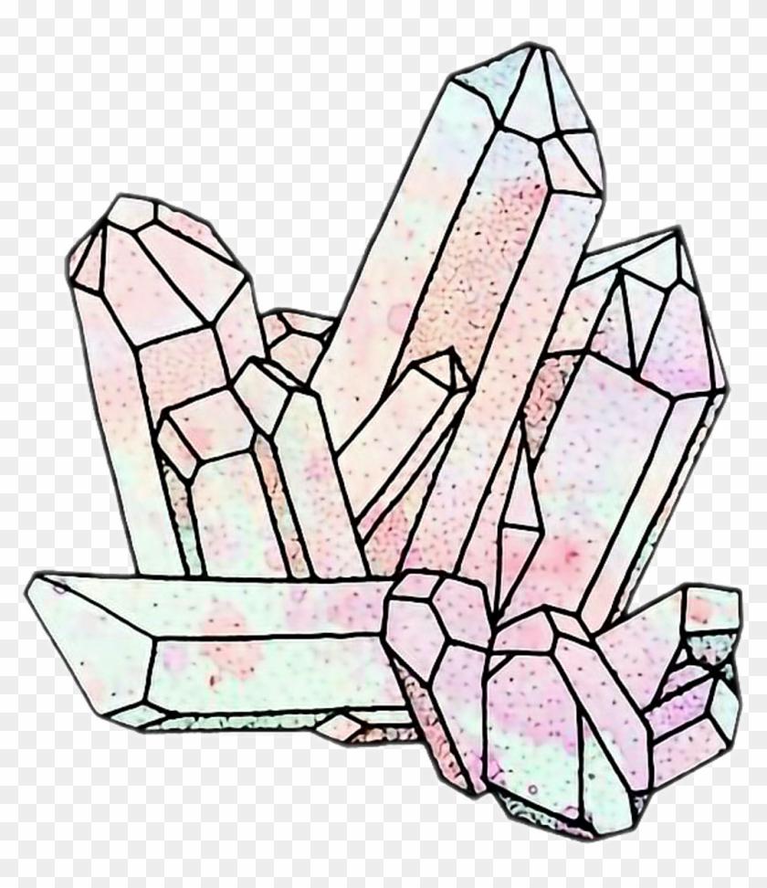 Картинки кристаллы карандашом красивые