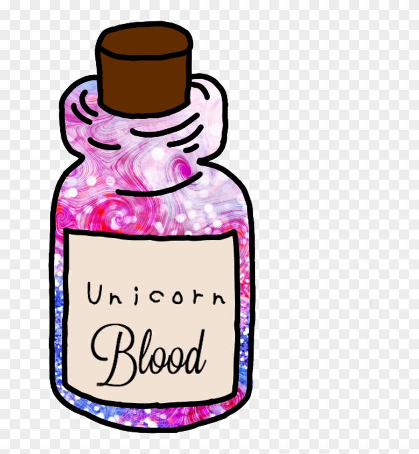 Dripping Blood Decor Transparent Png Clip Art Image - Sticker Tumblr Unicorn #1603242
