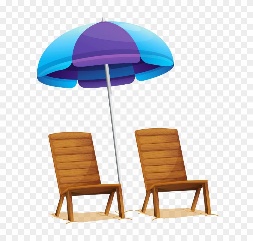Beach Umbrella Chair - Beach Umbrella And Chair Png #1603276
