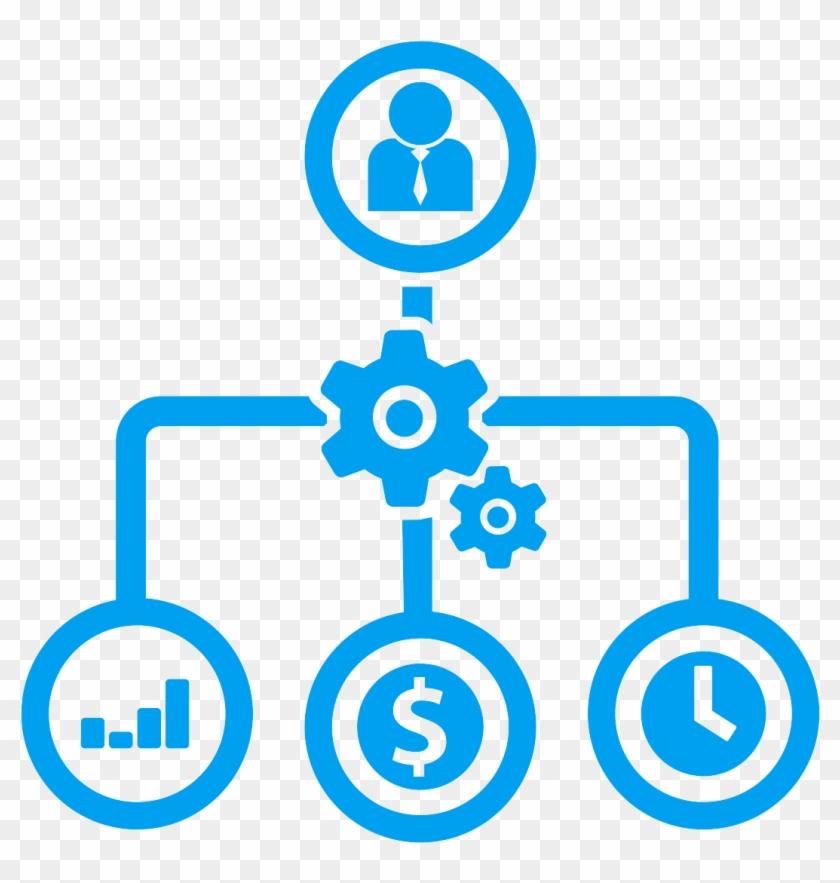 Define Cloud Goals Microsoft Blue - Project Management Icons Png