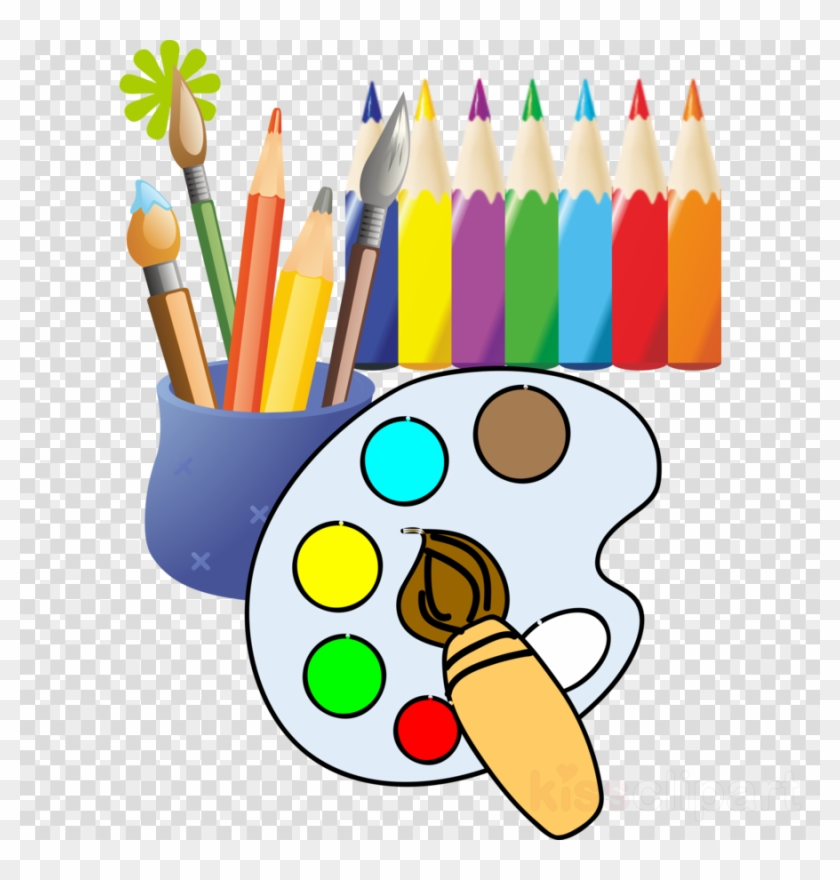 Painting Tools Cartoon Clipart Paint Brushes Drawing - Painting And Drawing Clipart #1604117