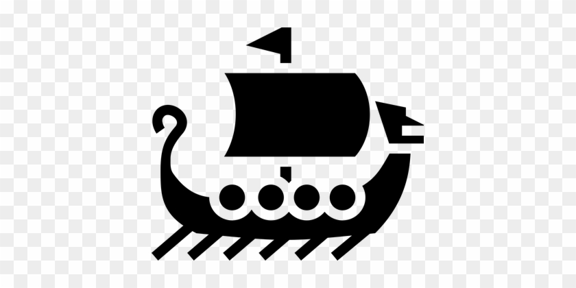 boat icon sailing ship simple symbols viki stories of norse gods