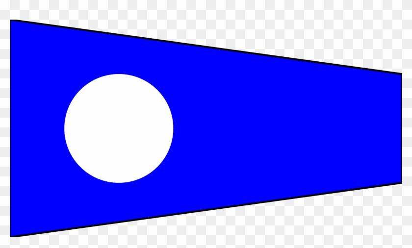 2 Numeral Signal Flag - Nautical Flag Number 2 #247301