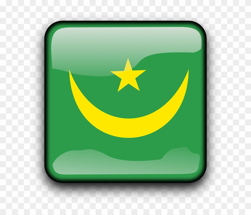 Button Mauritania, Flag, Country, Nationality, Square, - Flag Of Brazil #247338