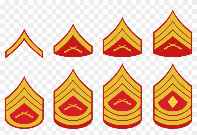 United States Marine Corps Rank Insignia Military Rank - Marine Corps Rank Insignia #247400