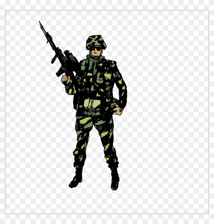 Military Soldier Drawing Clip Art - Military Things #247425