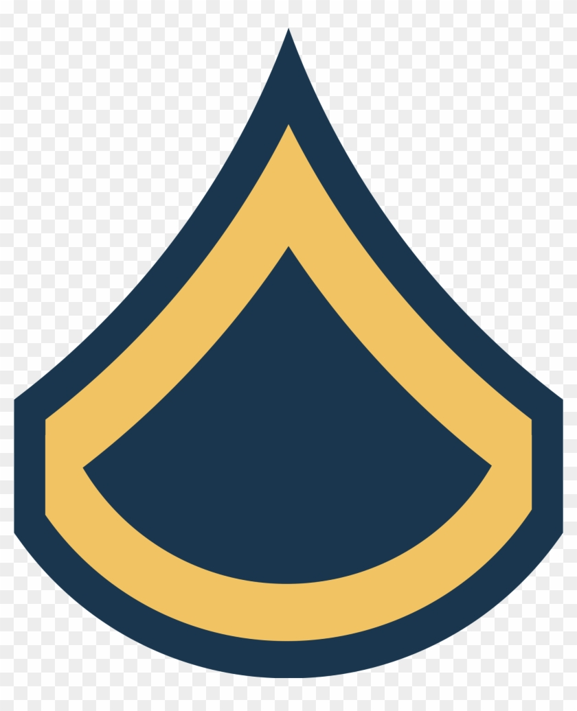 Army Usa Or - Private First Class Insignia #247639