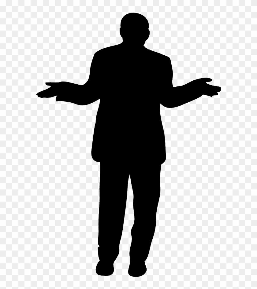 standing businessman silhouette cartoon royalty free - 629×886
