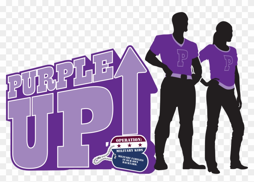 Purpleup - Purple Up Clipart Military Child #247815