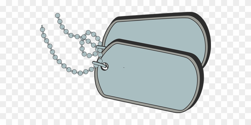 Dog Tags, Military, Identification, Army - Army Dog Tags Clipart Png #247943