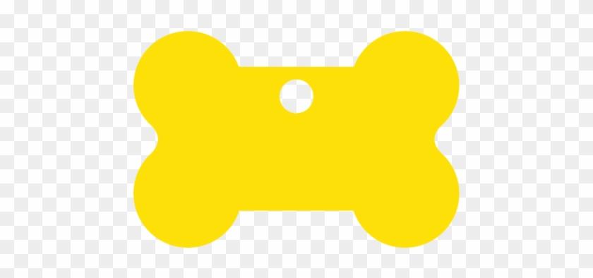 Yellow Bone Shaped Pet Tag - Pet Tag #248013