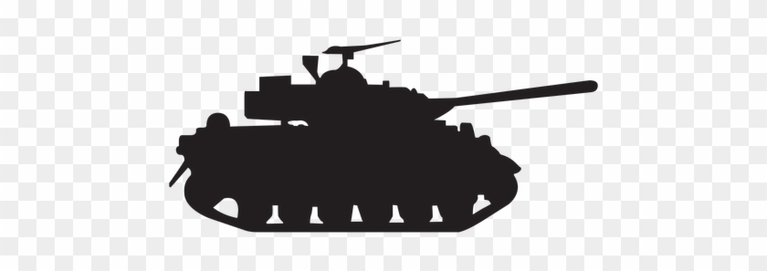 Military Tank Silhouette - Military Tank Silhouette Png #248690
