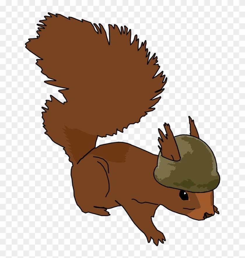 Soldier Squirrel Logo By Botkgb - Squirrel Clip Art #248794