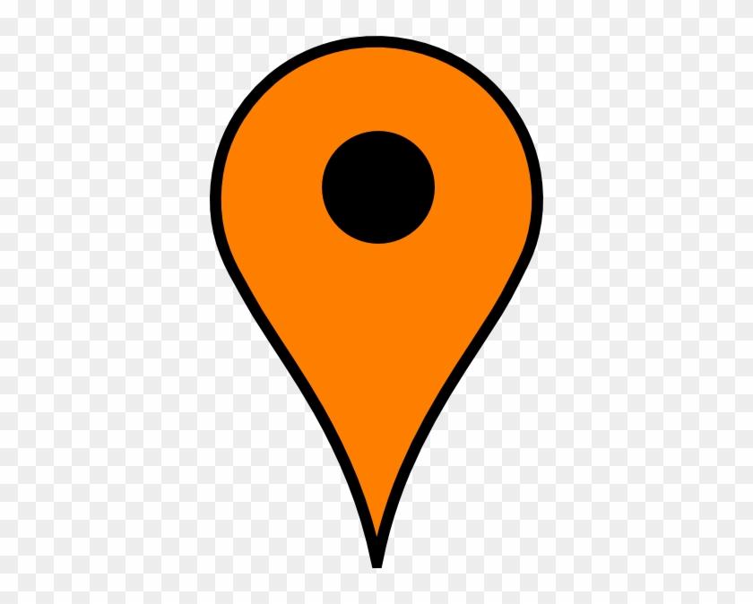 Map Marker Clip Art At Clker - Google Map Pin Orange #249255