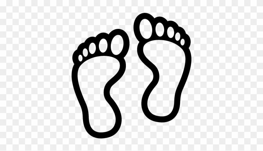 Human Footprints Outline Vector - Footprints Coloring Page #249354