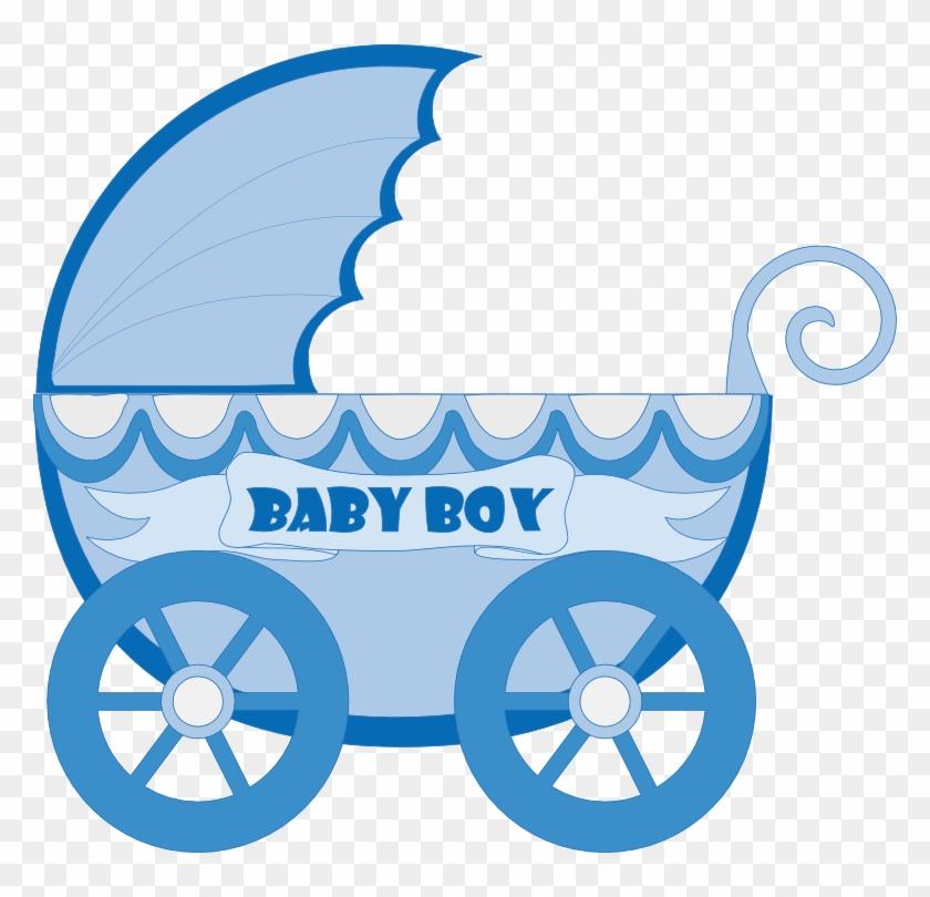 Kartki Free Ideas - Baby Stroller Clipart Blue #249440