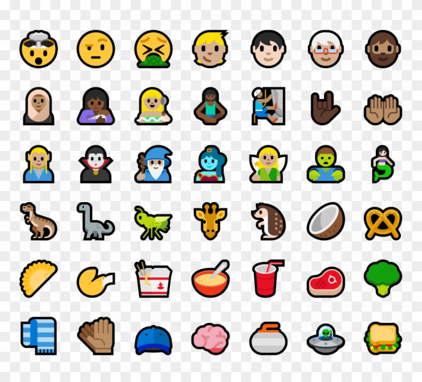 New Emoji Included In This Build - Windows 10 Mobile #249843