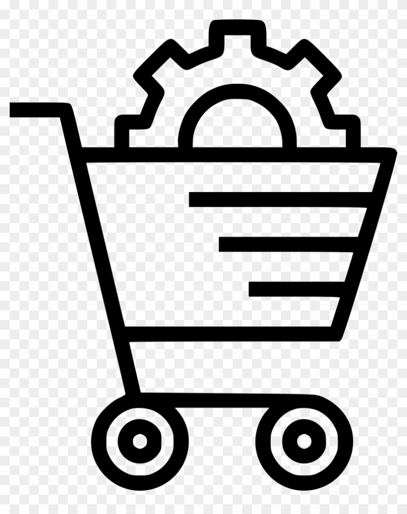 E Commerce Services Solution Cart Online Shopping Settings - Settings Icon In White Color Png #249902
