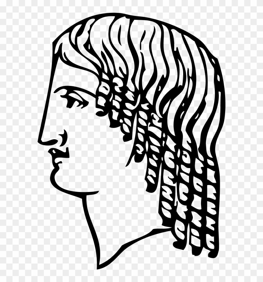 Woman Face Hairdressing Ancient - Ancient Man Face Vector #250067